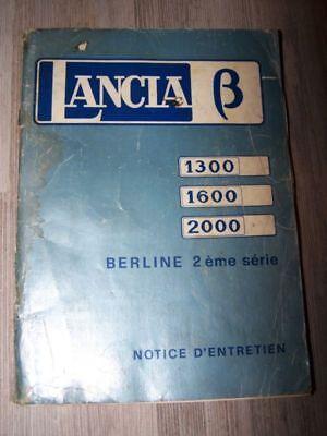 0u Notice/manuel/carnet D'entretien/conducteur Lancia Beta 1300 1600 2000 Vendite Economiche 50%
