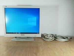 """Monitor schermo bianco per computer PC Philips 150S3 15"""" VGA Windows 7, 10, Mac"""