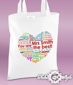 PERSONALISED-Tote-Bag-Thank-You-Teacher-School-Gift-2019-Design-Heart-White