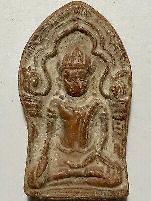 PHRA YODKHUNPON LP RARE OLD THAI BUDDHA AMULET PENDANT MAGIC ANCIENT#9