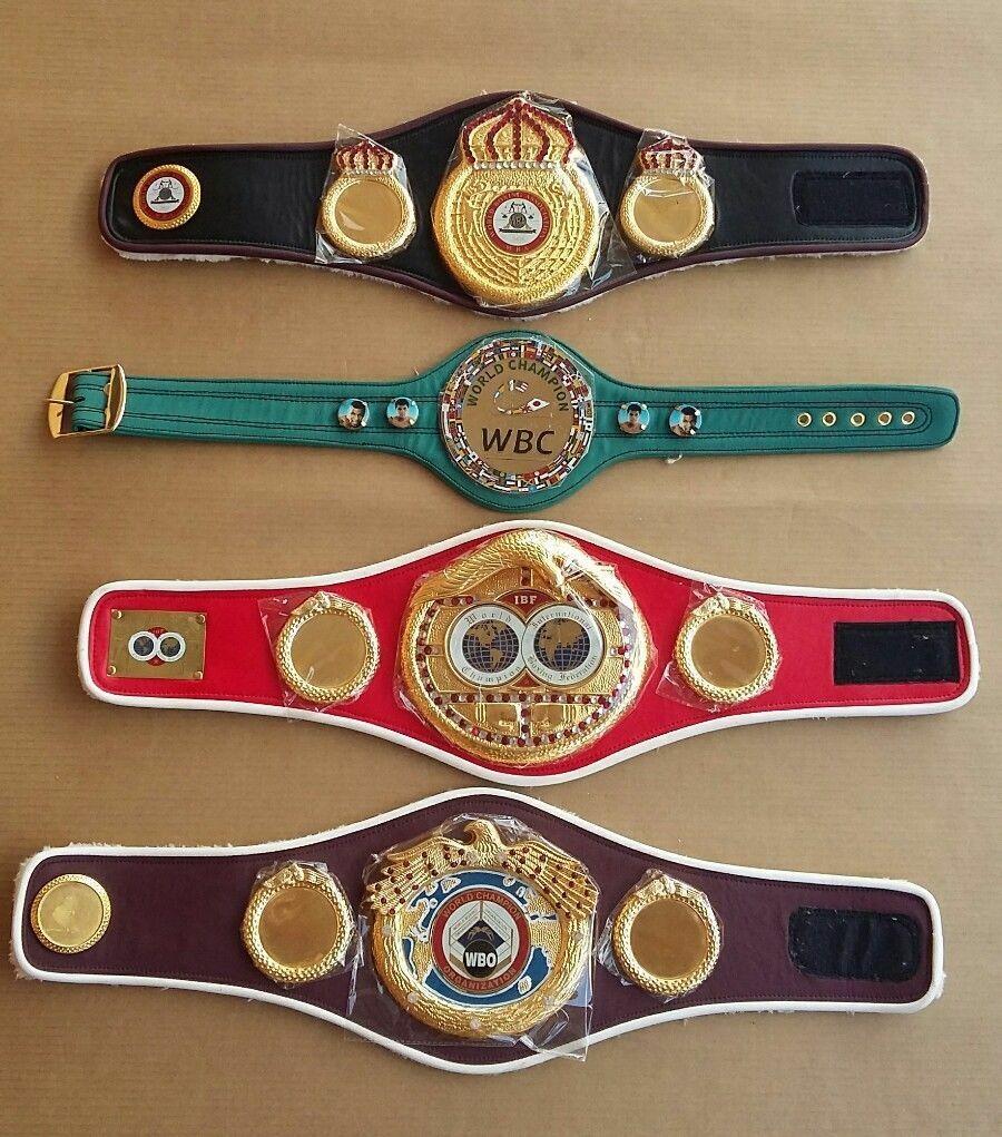 WBC WBO WBA IBF Championships Boxing Belt Mini Belts 4 Pcs Brand New