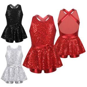 UK-Girls-Sequins-Modern-Jazz-Tap-Dance-Costume-Kid-Ballet-Leotard-Dress-Jumpsuit