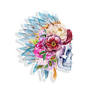 DAY OF THE DEAD SUGAR SKULL TATTOO FLOWER Car//Bumper//Window Decal Stickers t//57