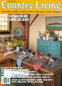Image Is Loading 1992 Country Living Magazine Long Island Summer Barnes