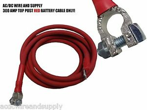 # 1 Awg HD welding Cable Top Post 16FT RED// 4 FT BLACK Battery Relocation Kit
