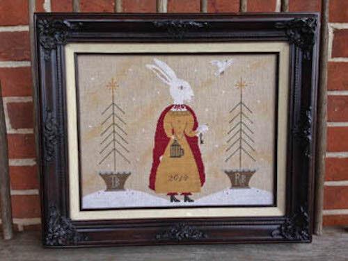 Lady Rachel Ruth Winter Rabbit Scattered Seed Cross Stitch Pattern