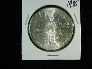 MEXICO 1985 LIBERTAD HAND PICKED GEM UNCIRCULATED FROM ORIGINAL ROLLS