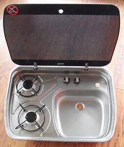 2 fl kocher spule cramer dometic glasabdeckung f for Fl chenbündige spüle