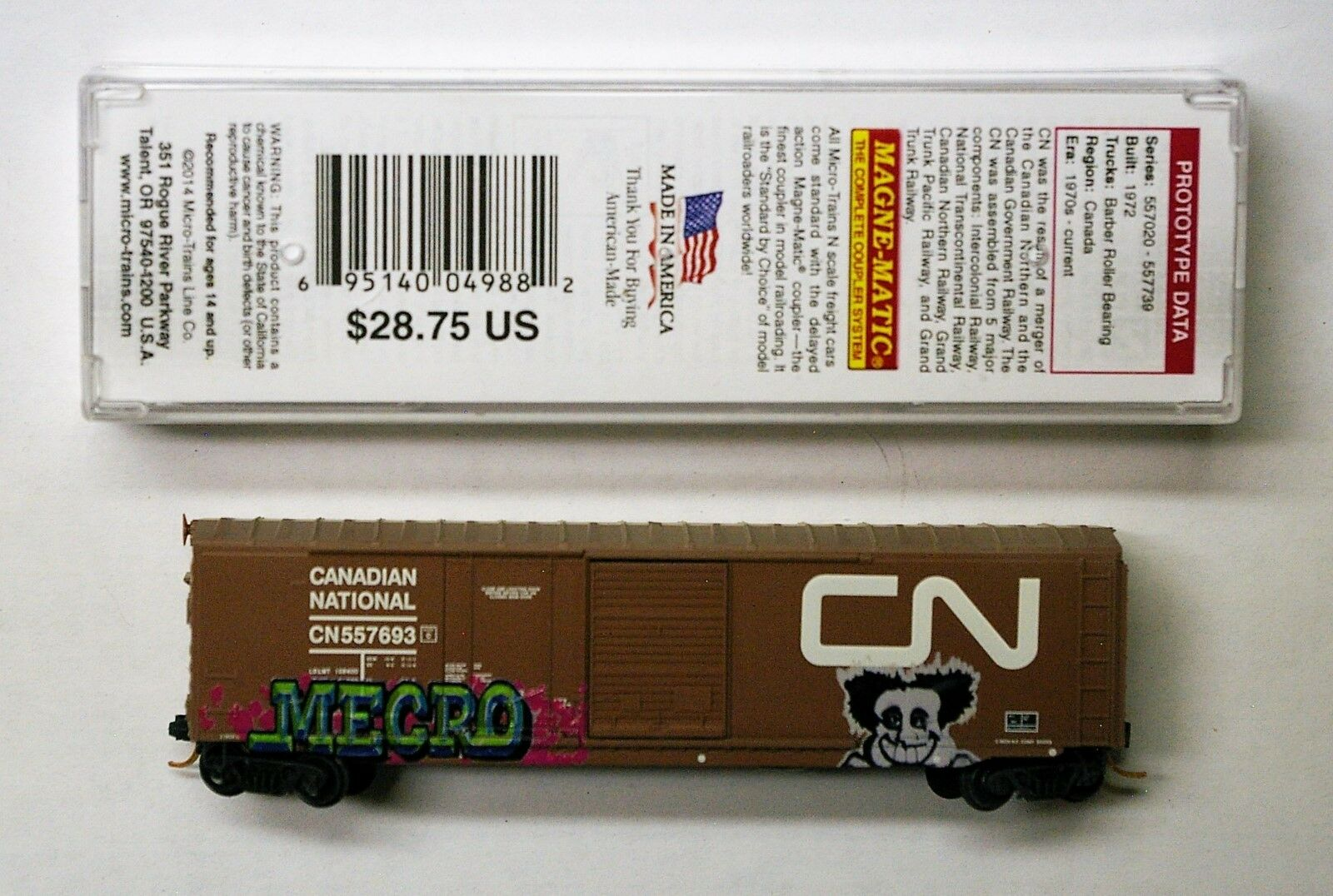 MTL Micro-Trains 76010 nacional canadiense cn 557688 o 557693 FW clima de fábrica