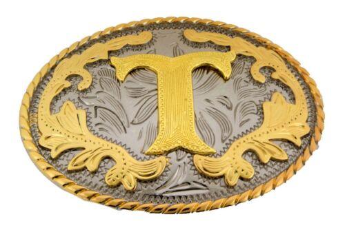 Erste Gürtel Schnallen Alphabet Monogramm Brief Texas USA Rodeo Western Cowboy
