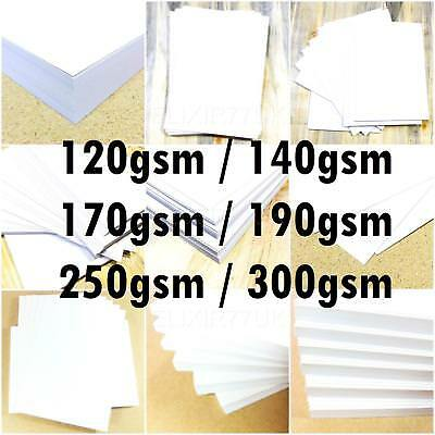 A2 A3 A4 A5 A6 WHITE CARD MAKING STOCK BLANK PAPER CRAFT DECOUPAGE 250gsm 300gsm