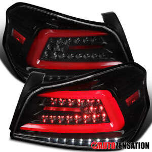 For-2015-2019-Subaru-WRX-STI-Slick-Black-Sequential-LED-Signal-Tail-Lights-Lamps