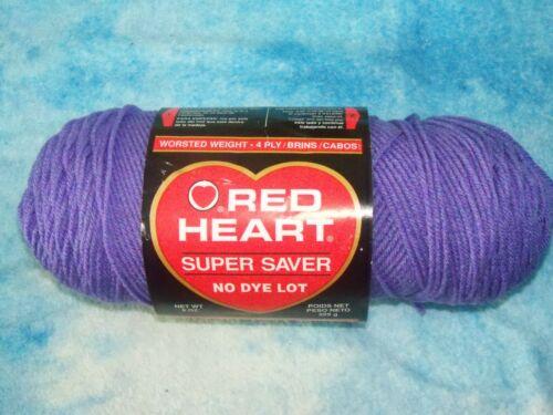 5.7 oz partial Lavender Skein Red Heart Super Saver Yarn est