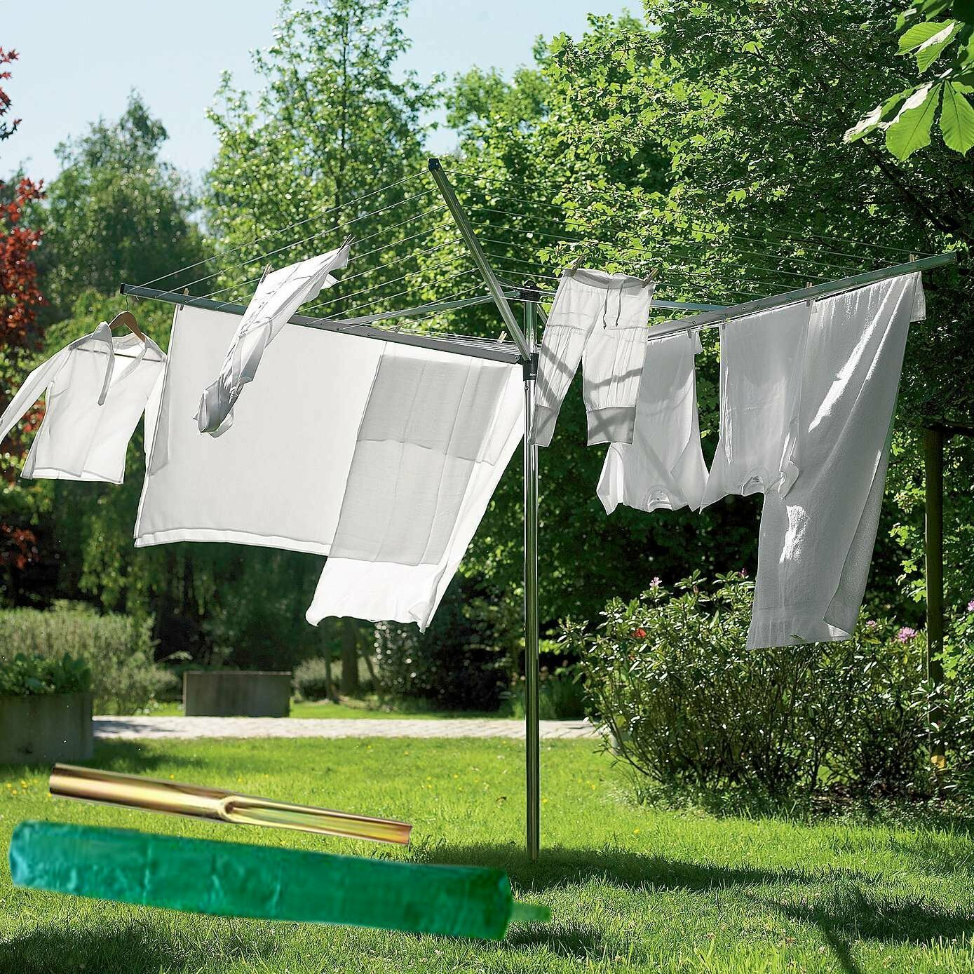 Outdoor Cloth Dryer ~ New arm rotary garden washing line clothes airer dryer