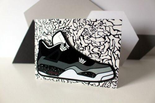 Retro Air Jordan 4 Fear IV sneaker art fridge locker magnet