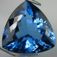 LONDON BLUE TOPAZ 12 MM TRILLION CUT 1 PIECE SET  AAA