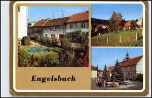 DDR-Postkarte-Thueringen-ENGELSBACH-ua-Dorfstrasse-Hauptstrasse-Teilansicht