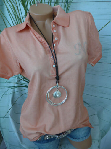 Navigazione Kurzarm Polo Shirt Gr Aprikot Oil Wash NEU 42-52 098