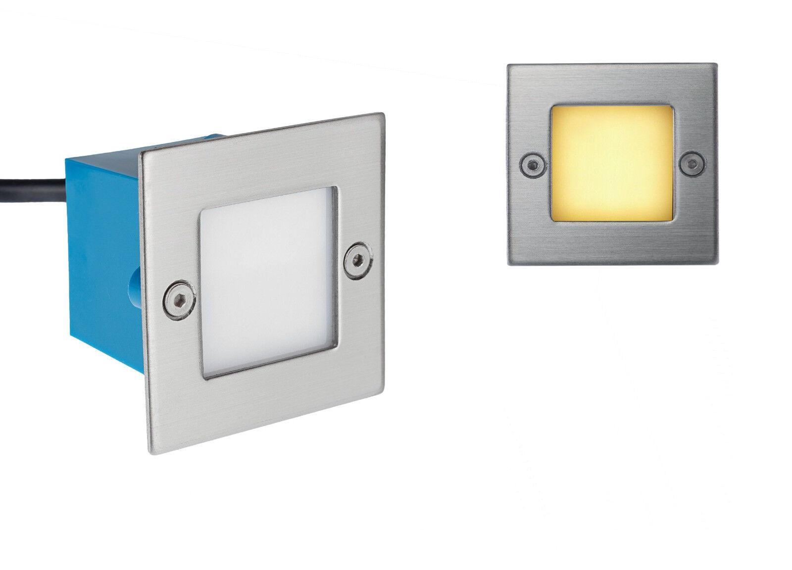 6x LED Treppenleuchte LED Wandeinbauleuchte Janus IP54 Warmweiss