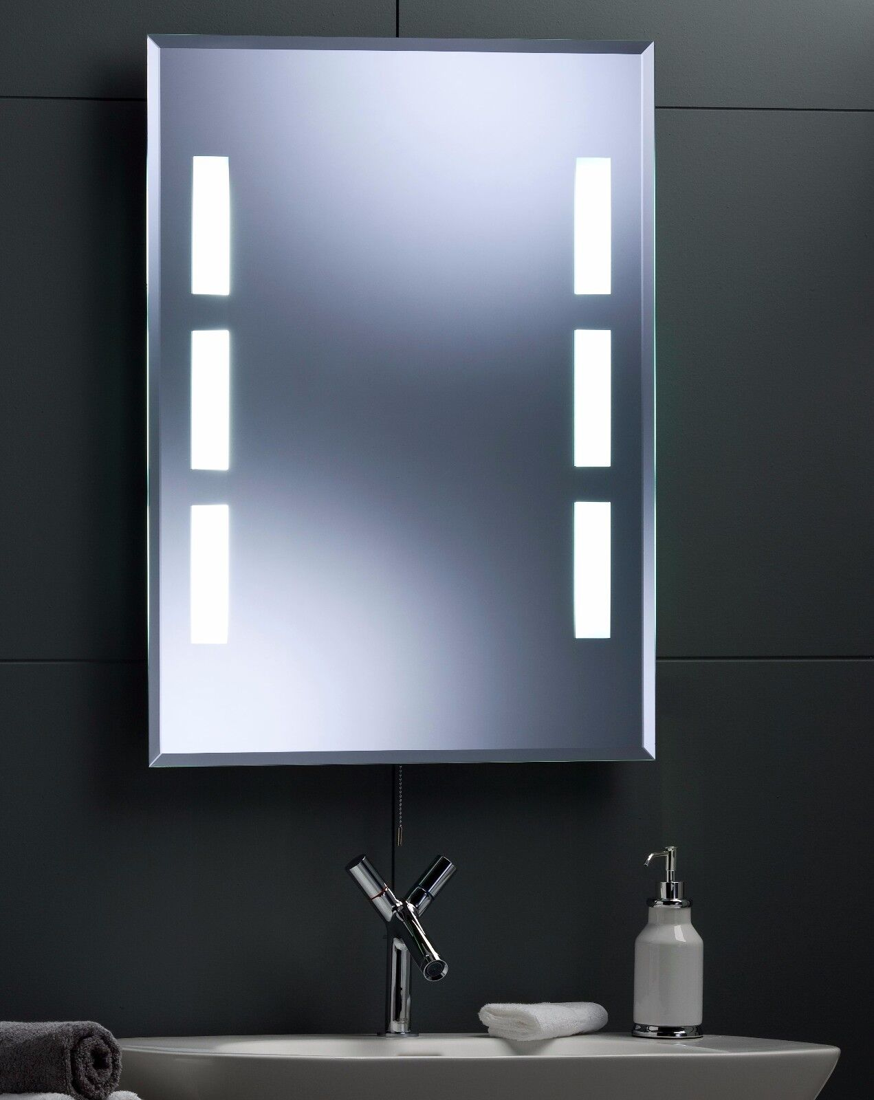Bathroom Mirrors Illuminated: Illuminated Bathroom Wall Mirror With Long Life LED