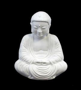 9942296-ds Wagner&Apel Porcellana Figura Buddha Bianco Bisquit H18cm