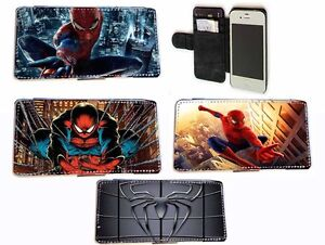 Spiderman-Inspired-Leather-Wallet-flip-Phone-case-for-Iphone-Samsung-HTC-LG