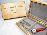 Engraved Wood Jewelry Box Personalized Bridesmaid Maid Of Honor Wedding Keepsake