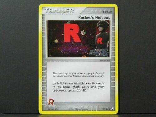 Holo Rocket/'s Hideout 87//109 Near Mint Team Rocket Returns Pokemon Card