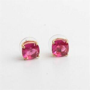 f87ba3b4d4fc Kate Spade New York Enamel Mini Small Square Studs Fuschia Pink | eBay