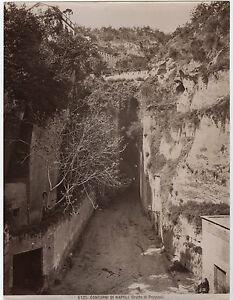 GéNéReuse Italie Contorni Di Napoli Grotta De Puzzuoli Vintage Albumine Ca 1875