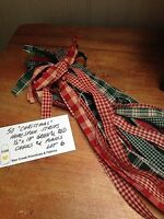 50 christmas Homespun Strips 1/2 X 18 Green & Red Great 4 Crafts Lot 6