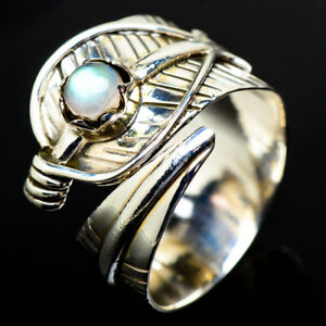 Rainbow-Moonstone-925-Sterling-Silver-Ring-Size-8-Adjustable-Jewelry-R17853F