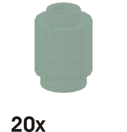 20  NEUE 1x1 rund Steine in grün-transparent 3006848    435 3062b