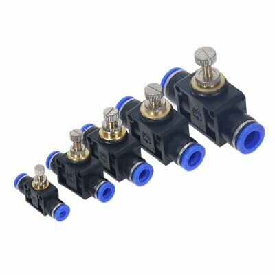 Water /& Fuel Hoses 1 x T Piece Connector 4mm Speed Push Fit for Pneumatic Air