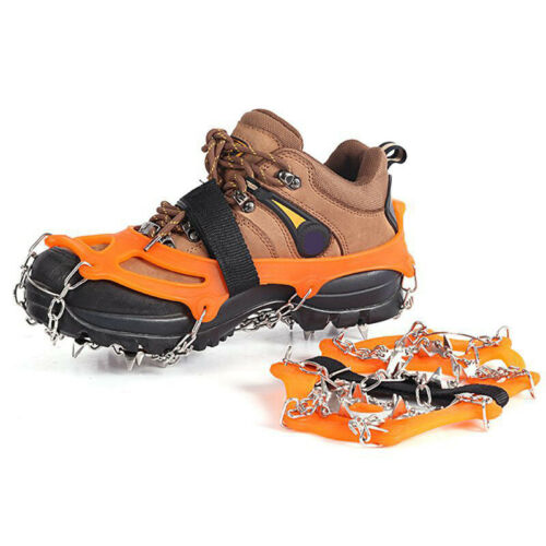 19 Spirks Camping Boot Shoe Cover Spike Cleats Crampons Steel Ice Snow Gripper