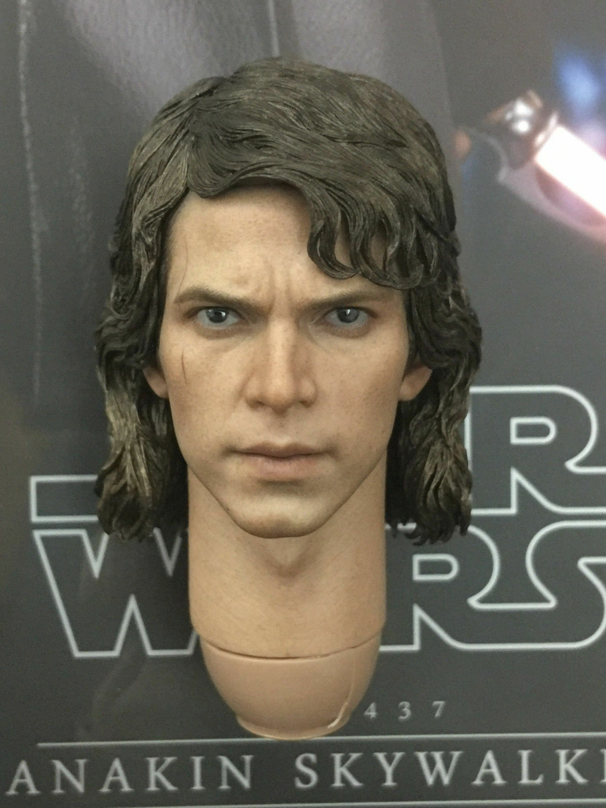 Hottoys Star Wars Revenge Of The Sith  Anakin Skywalker MMS437 - Head Sculpt