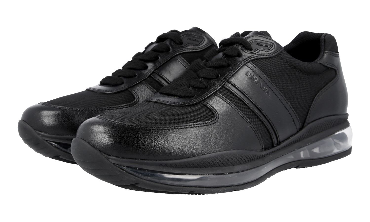 LUXUS PRADA SNEAKER AIR Zapatos 4E2858 Negro MIT AIR SNEAKER SOHLE NEU NEW 8 42 42,5 84c6d7
