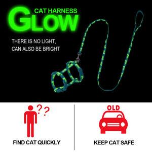 Reflective-Cat-Harness-amp-Leash-Set-Puppy-Kitten-Strap-Harness-Vest-Florescent