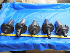 Set Of 5 Cat50 38 Id Solid End Mill Tool Holder Tecnara Univ Eng 3750