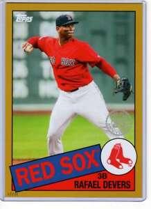 Rafael-Devers-2020-Topps-1985-35th-Anniversary-5x7-Gold-85-17-10-Red-Sox