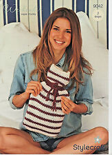 fcd3ca7c83909a Stylecraft 9042 Knitting Pattern Hot Water Bottle Covers Weekender ...