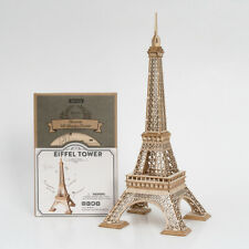 Robotime 3D Wooden Puzzle Eiffel Tower Model Kits DIY Toy Gift for Girls Boys