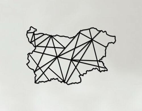 Bulgarie Art-en bois découpé au laser Wall Art-géométrique pays Art