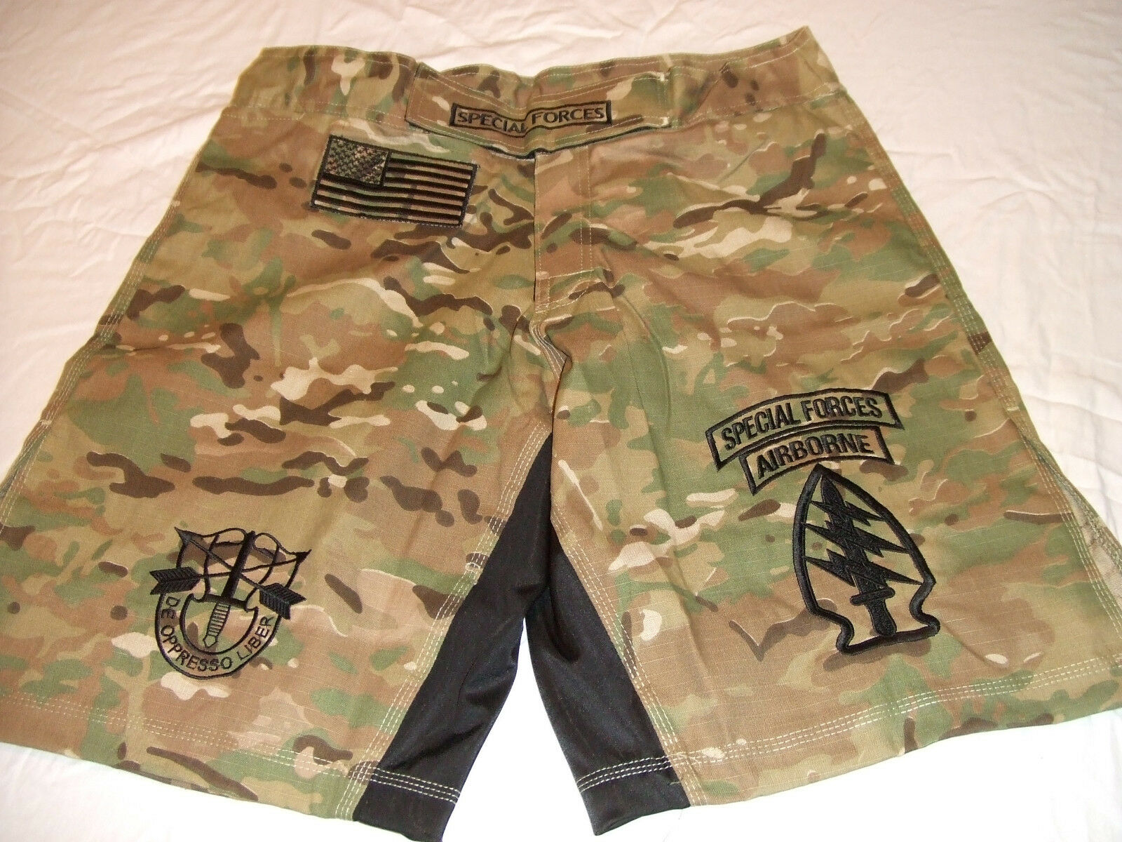 ae0addfa8f US ARMY SPECIAL FORCES SF COMBATANT MMA PT FIGHT NEW CAMO BOARD SHORTS 4XL-  5XL