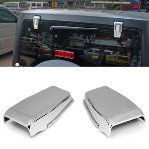 Chrome Upper Rear Door Window Hinge Cover Trims For Jeep