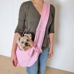 Dog Carrier Purse Bag Reversible Sling Carry Small Pet Purse