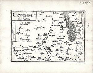 Antique Maps Gouvernement De Reims Ebay