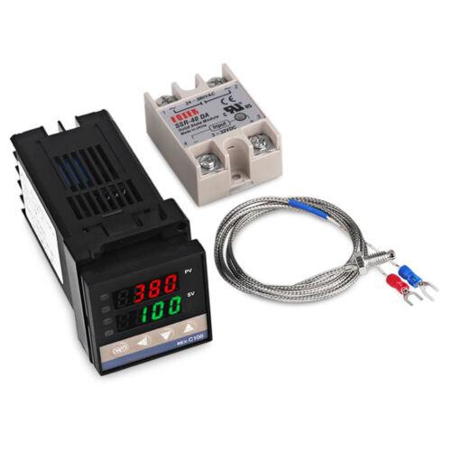 PID Digitaler Temperaturregler REX-C100 mit K Thermoelement SSR Ausgang Neu