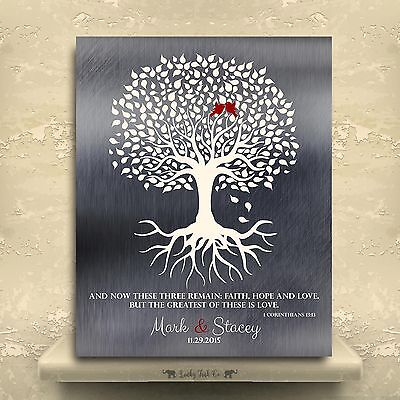 Lt 1216 Personalized 10th Anniversary Gift Minimalist Family Tree