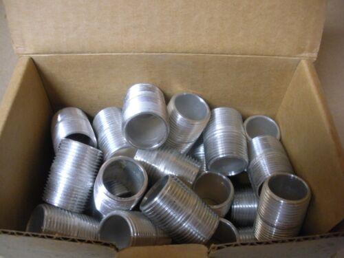 "New Box of 25 Pittsburg Nipple Works 3//4/"" X Close Aluminum Nipple"